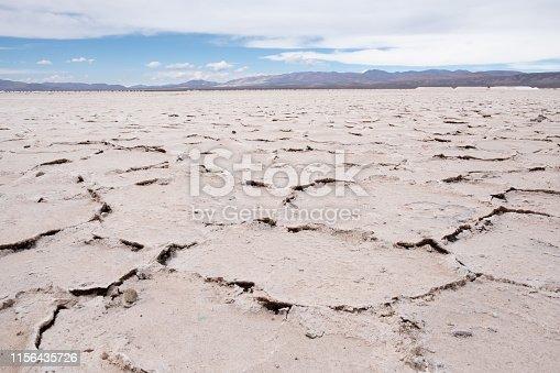 Crackled surface of Salinas Grandes, nothwest Argentina