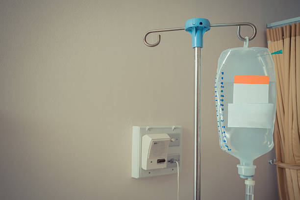 Saline bag for patient in hospital Saline bag and saline for intravenous infusion for patient in hospital , process in vintage style saline drip stock pictures, royalty-free photos & images