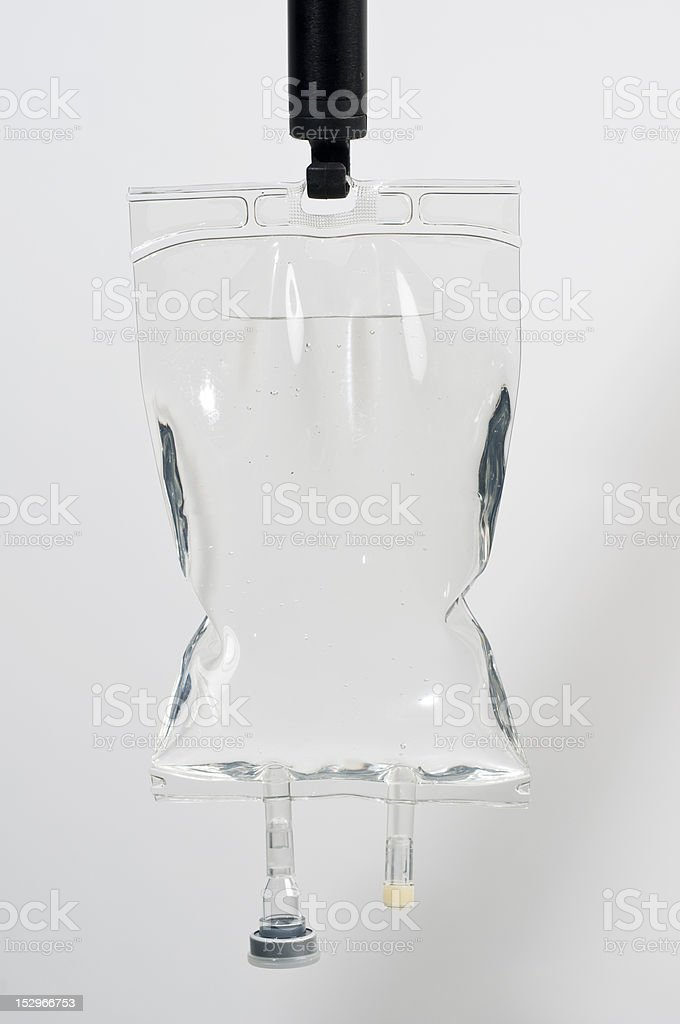 saline bag stock photo