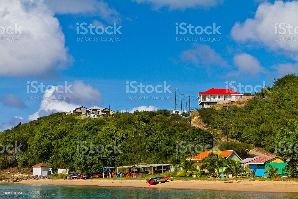 Saline Bay, Mayreau stock photo