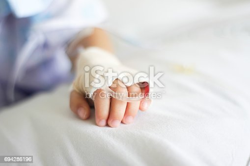 istock Saline intravenous (iv) drip 694286196