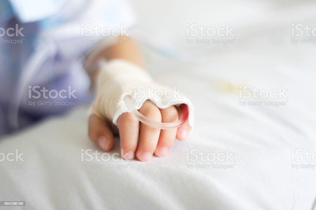 Saline intravenous (iv) drip stock photo