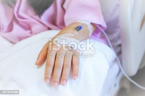 istock Saline intravenous (iv) 647540486