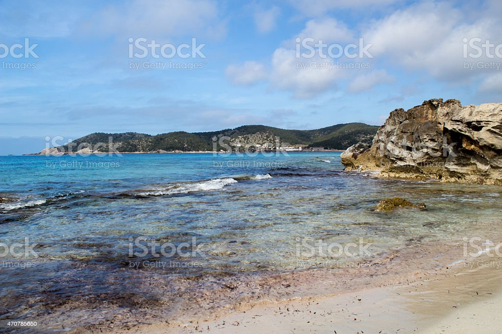 Salines beach stock photo