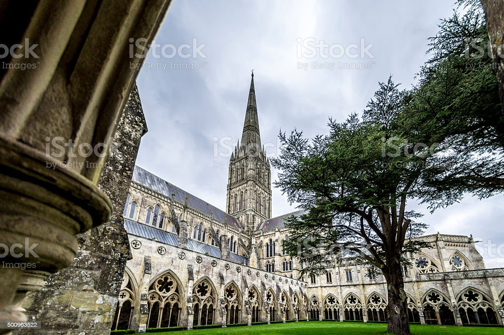 Salisbury Cathedral Detail stock photo