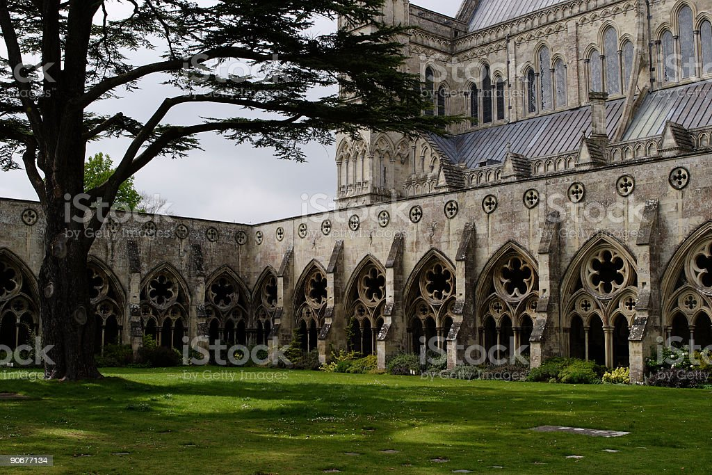 Salisbury Cathedral - External 001 stock photo