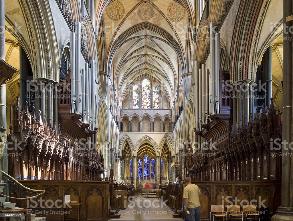 Salisbury Cathedral internal stock photo