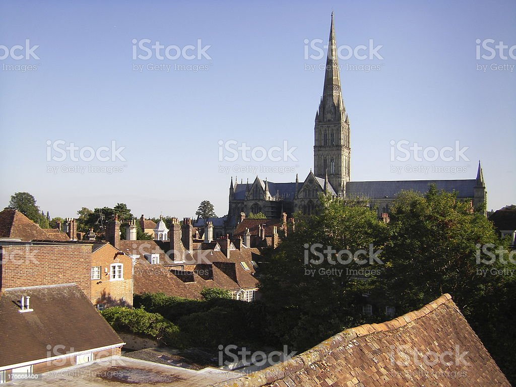 Salisbury Cathedral royalty-free stock photo