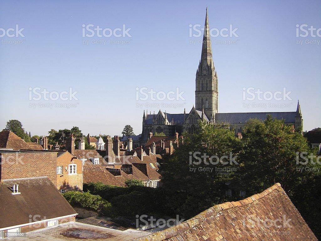 Catedral de Salisbury foto de stock libre de derechos