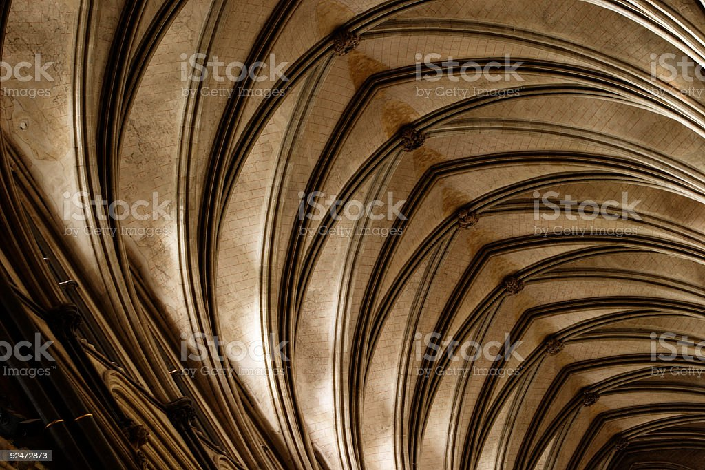 Salisbury Cathedral vaulted roof 002 royalty-free stock photo