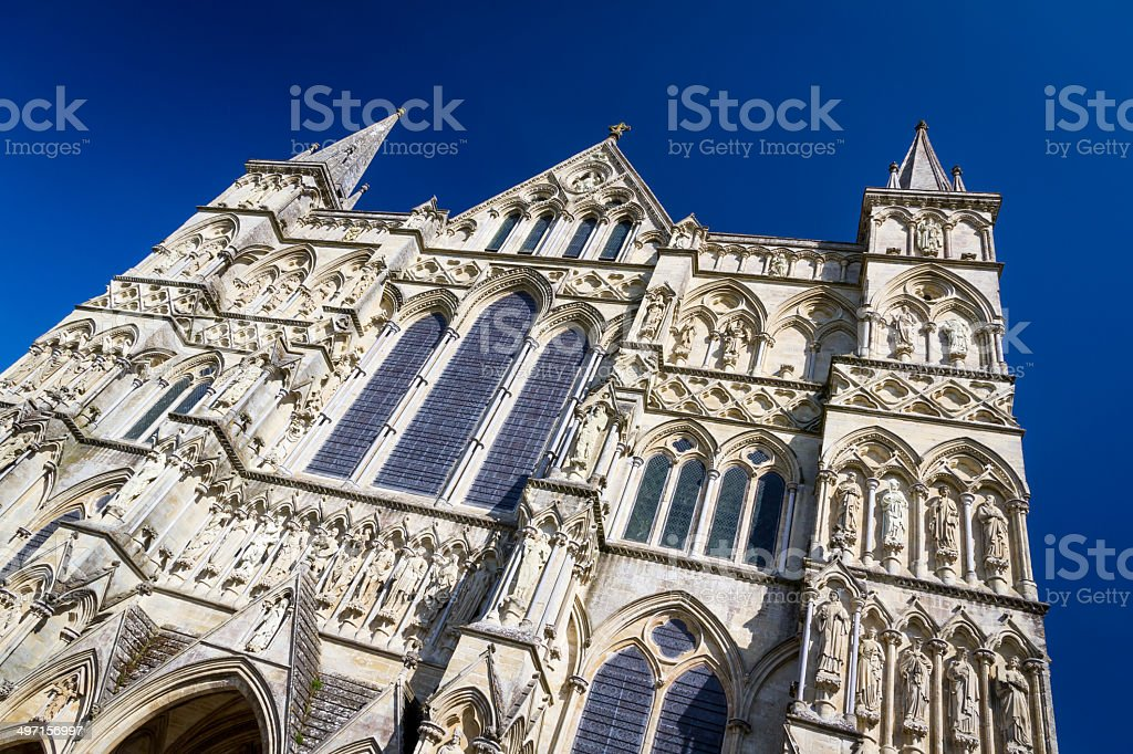 Salisbury Cathedral Wiltshire England UK stock photo