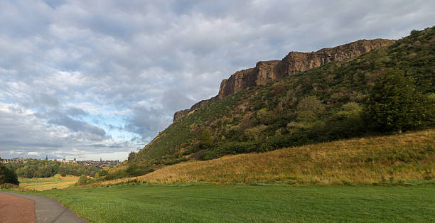 Salisbury Crags jogging path stock photo
