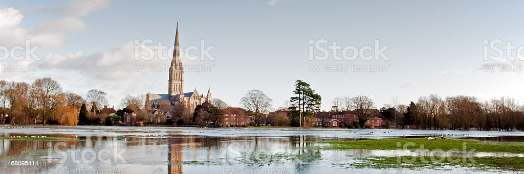 Salisbury Flood stock photo