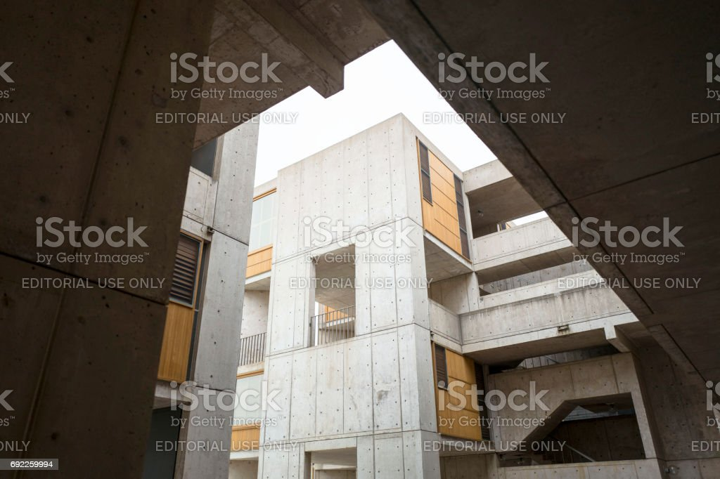 Salk Institute La Jolla California royalty-free stock photo