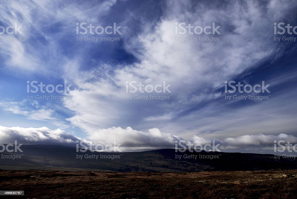 Sally Gap and the Wicklow Hill in rural Ireland stock photo