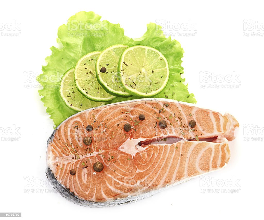 salmon and lime royalty-free stock photo