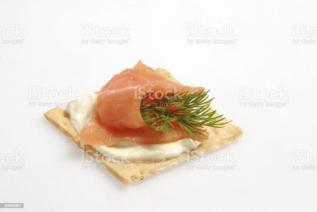Aperitivos de salmón foto de stock libre de derechos