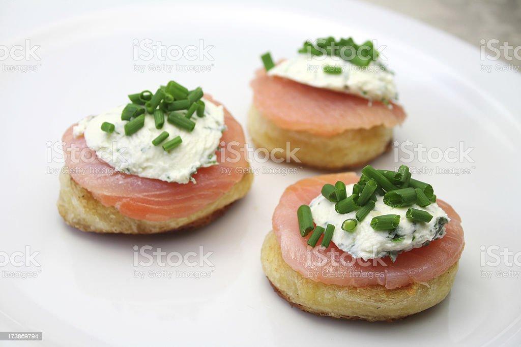 Salmon Appetizers stock photo
