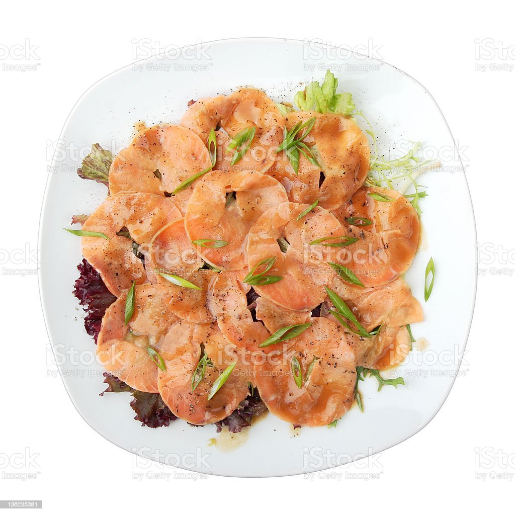 salmon carpaccio royalty-free stock photo
