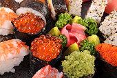 サーモンのキャビアの寿司