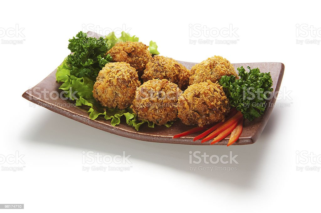 Salmon Croquette royalty-free stock photo