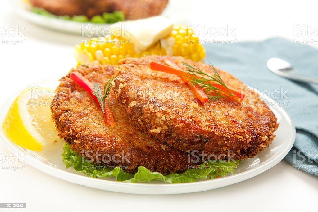 Salmon Croquettes stock photo