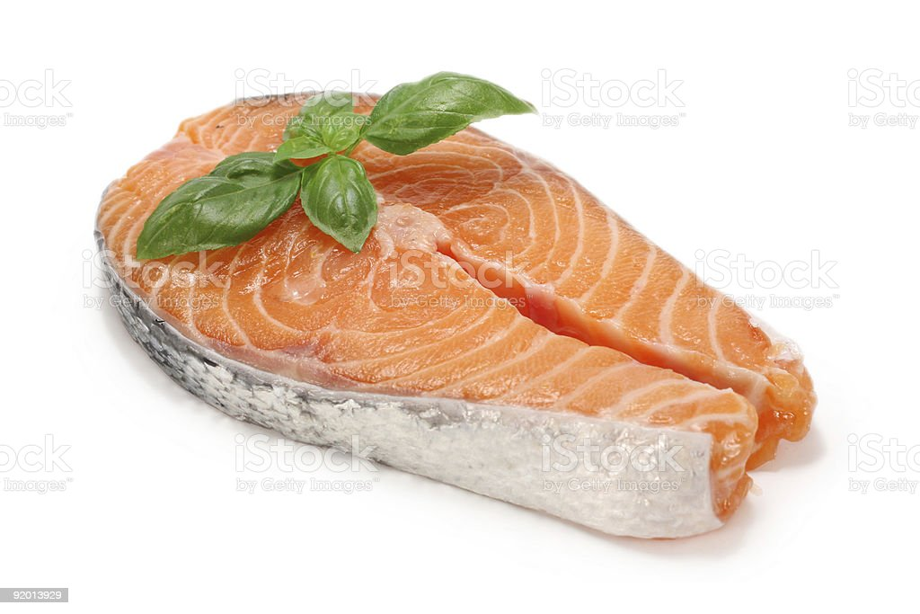 Salmon cutlet royalty-free stock photo