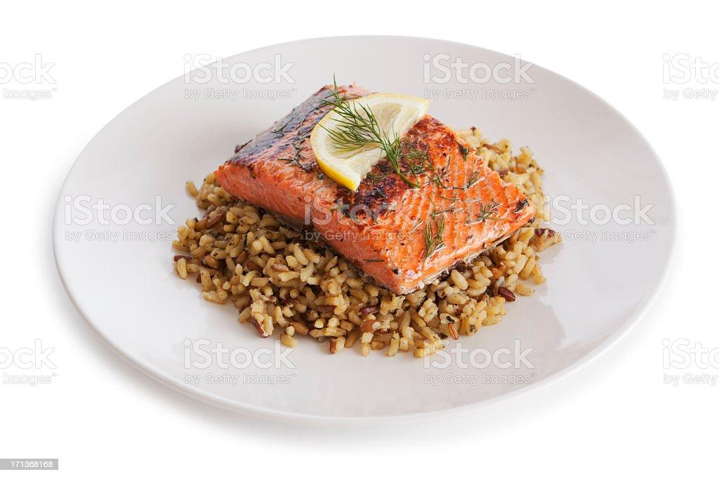 Salmon dish stock photo