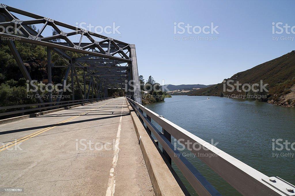 Salmon Falls Bridge, Folsom California stock photo