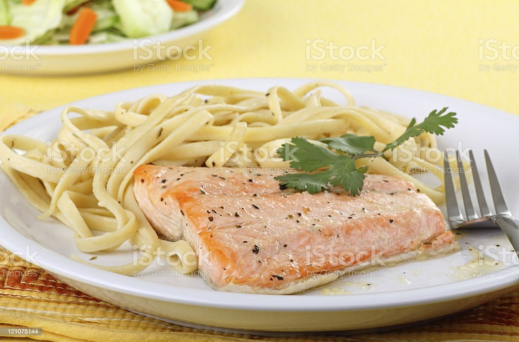Salmon Fillet Meal royalty-free stock photo