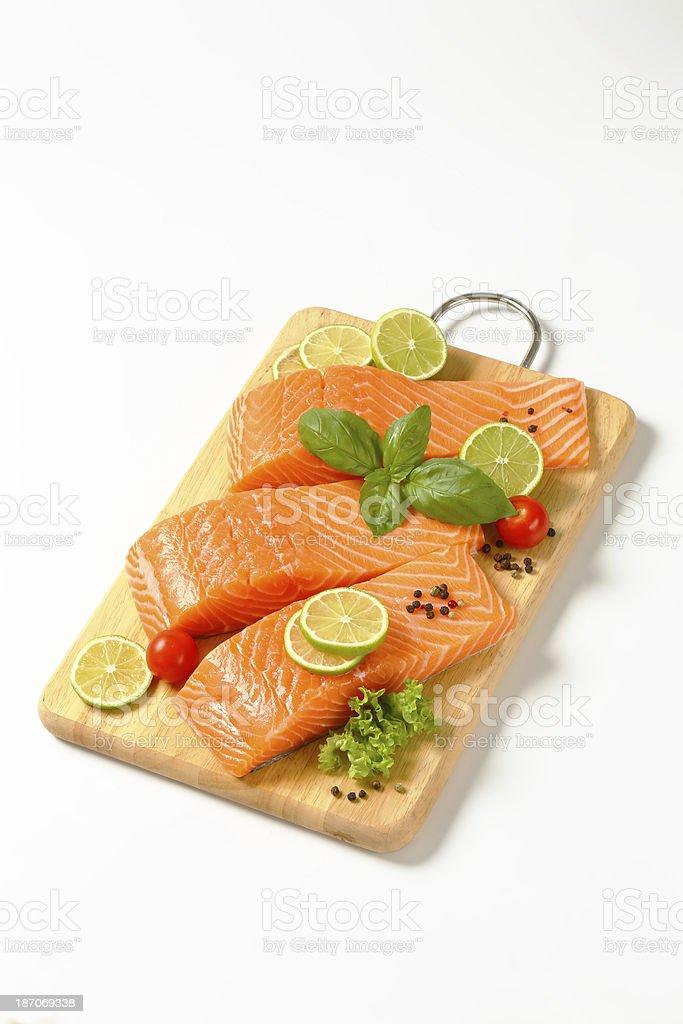 salmon fillets royalty-free stock photo