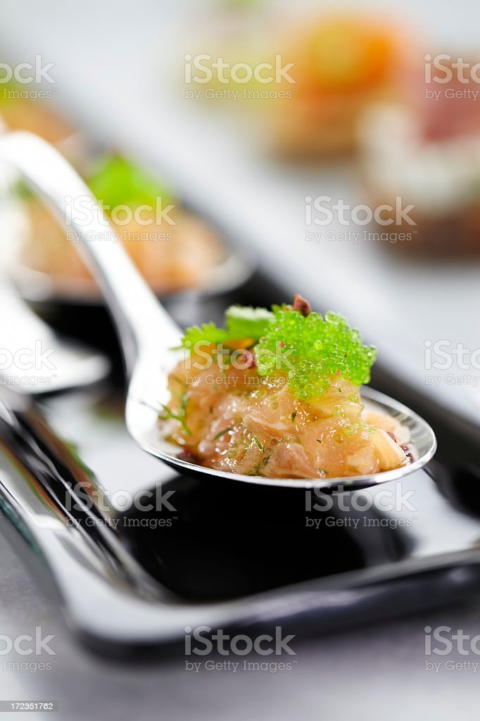 Salmon fish and caviar royalty-free stock photo