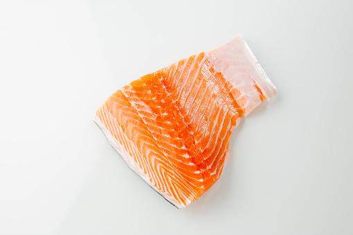 Salmon fish on wihte background