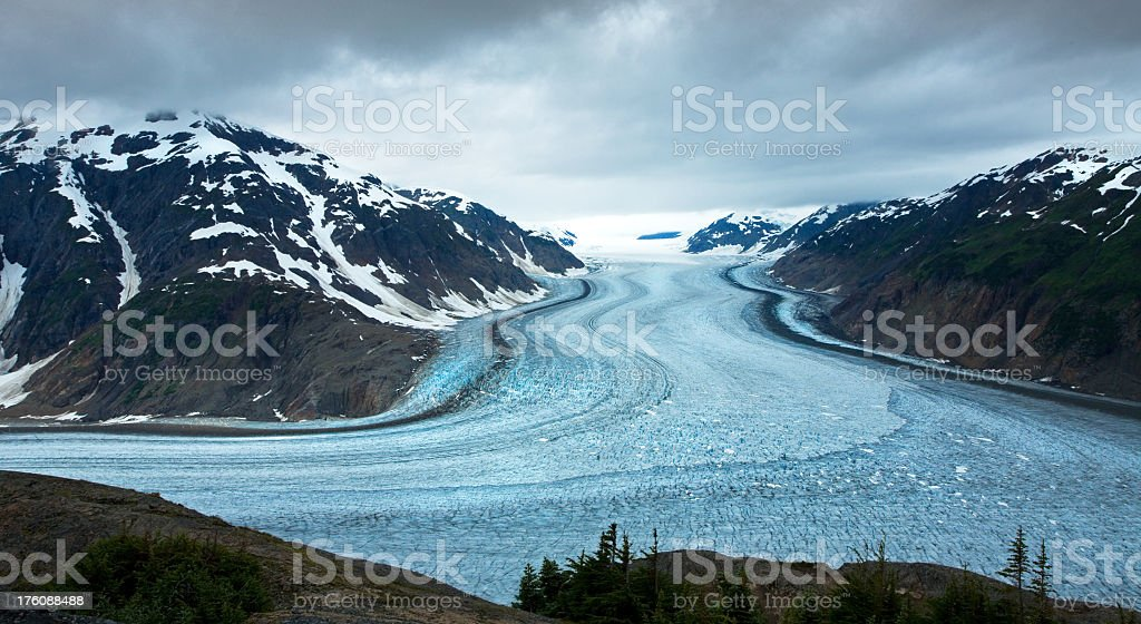 Salmon Glacier, British Columbia, Canada stock photo