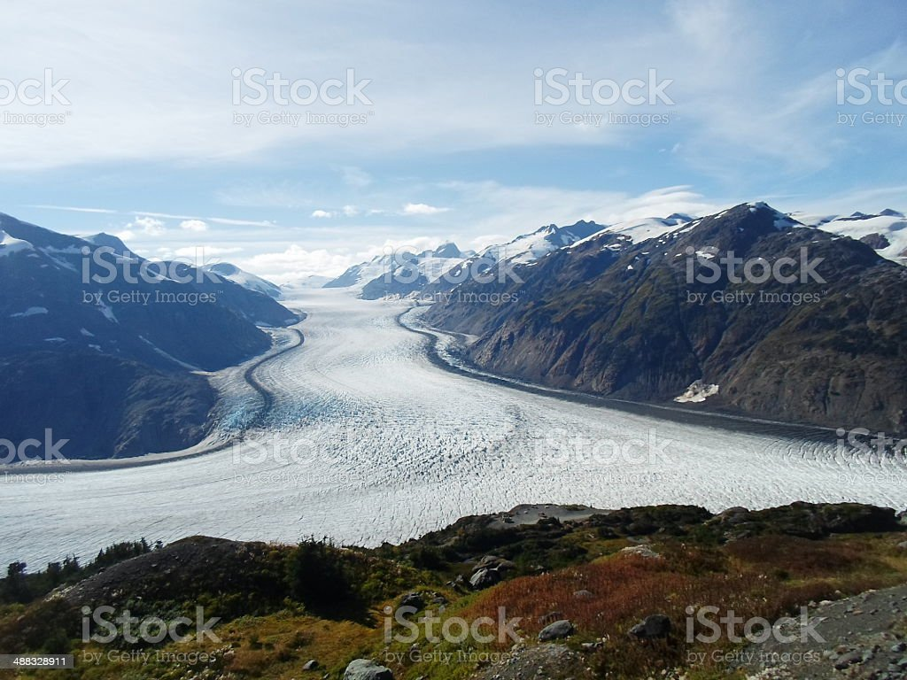 Salmon Glacier Hyder Alaska stock photo