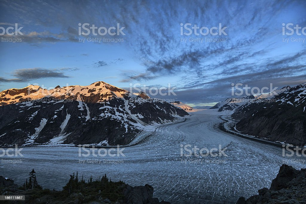 Salmon Glacier stock photo