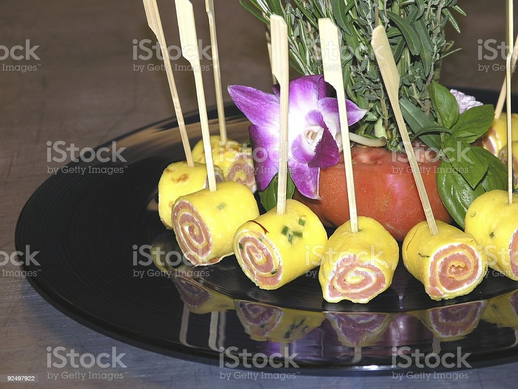 Salmon Hors D'oeuvre royalty-free stock photo