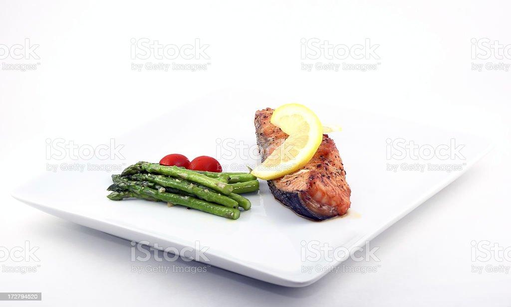 Salmon Meal royalty-free stock photo