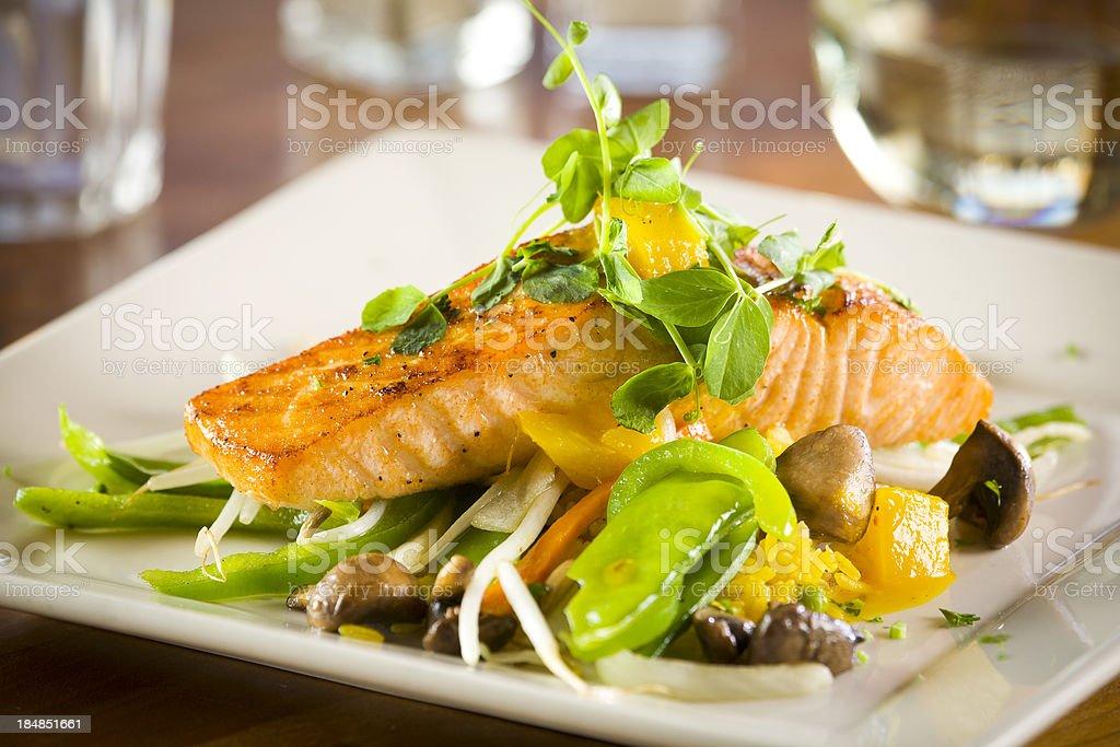 Salmon, medium view stock photo