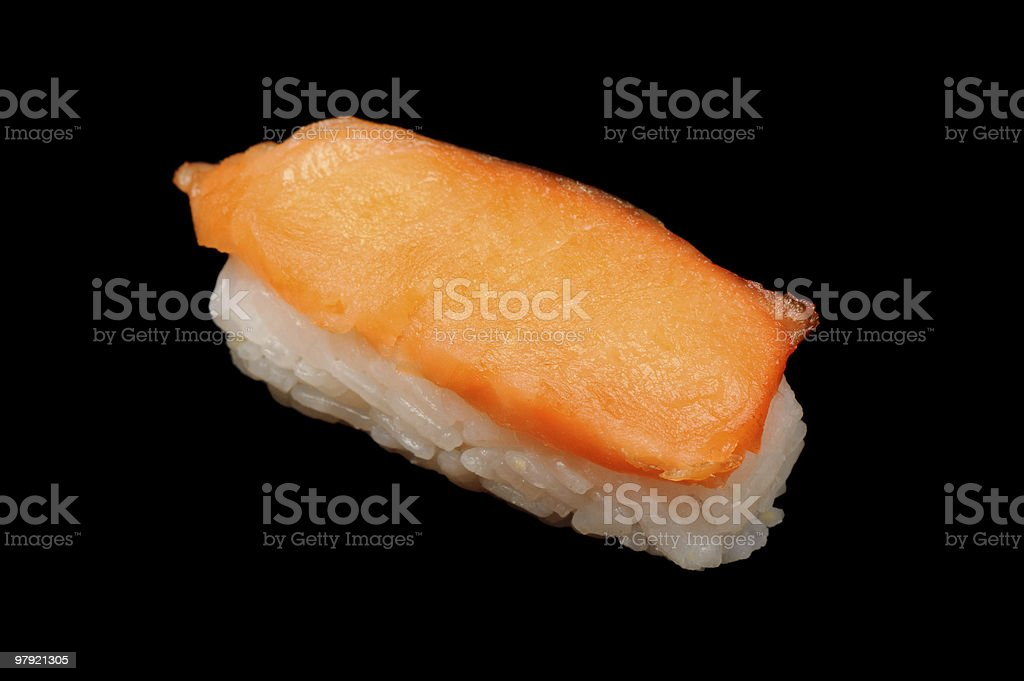 salmon nigiri-zushi royalty-free stock photo