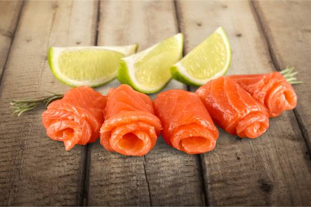 salmon. - foodie stock photos and pictures