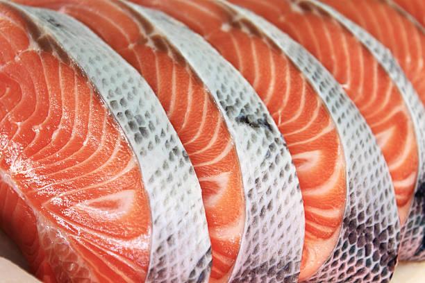 Salmon Raw salmon portions salmonidae stock pictures, royalty-free photos & images