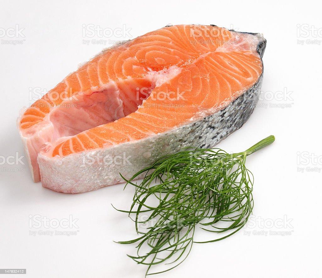 Salmon. royalty-free stock photo