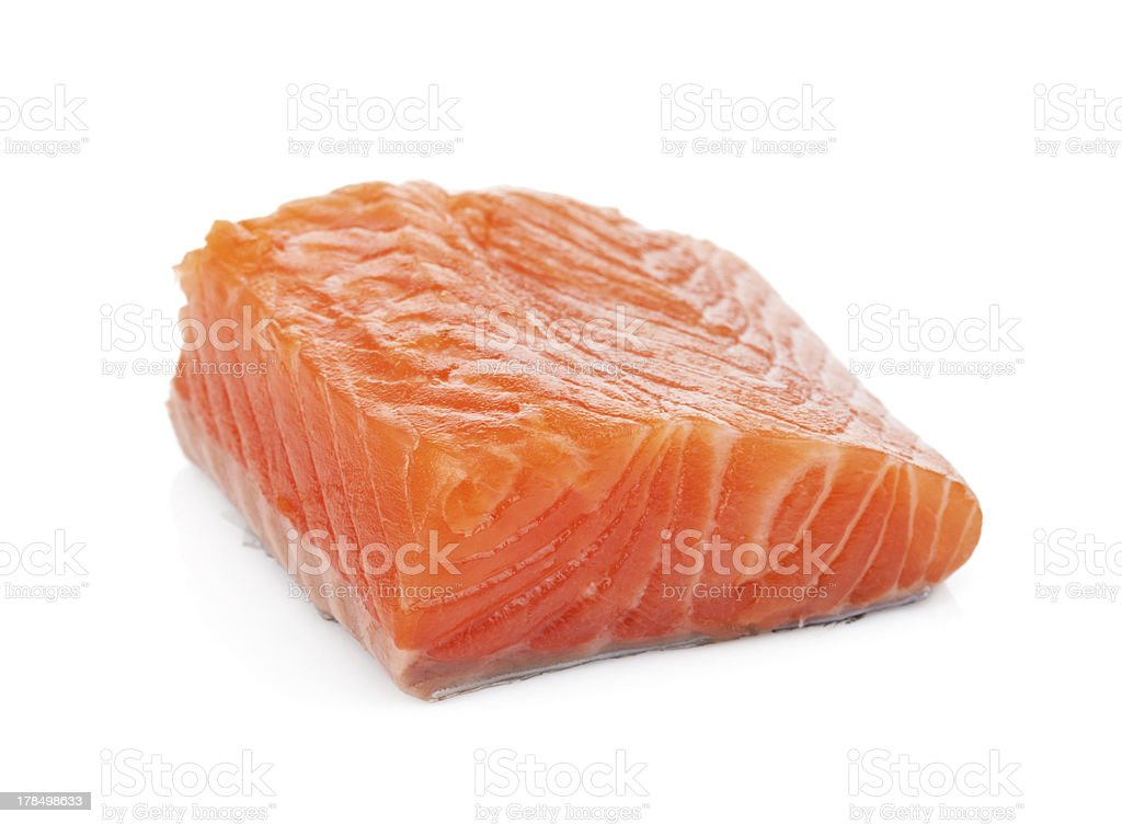 Salmon piece royalty-free stock photo