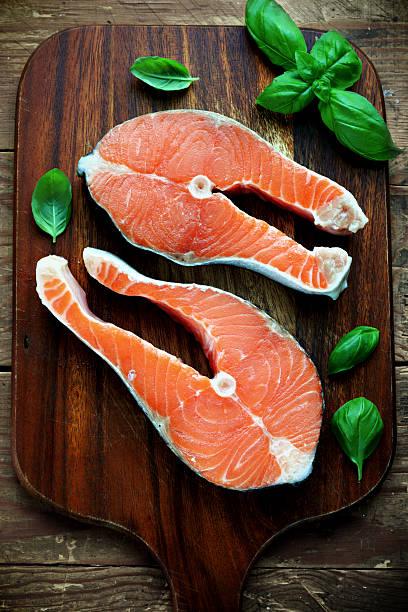 Salmon raw stock photo