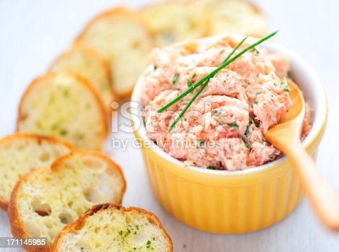 Salmon Rillette and Garlic ToastsSimilar images