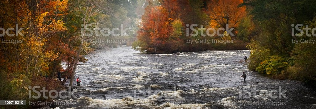 Salmon river New York in the Fall stock photo