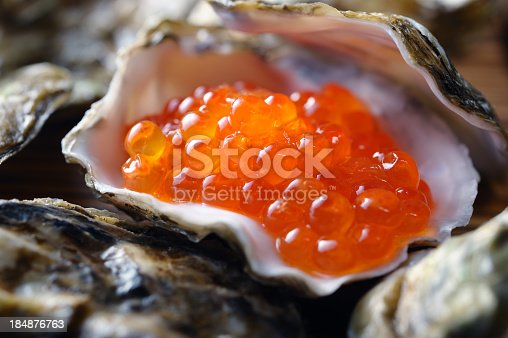 Salmon Roe in Oyster Shell.