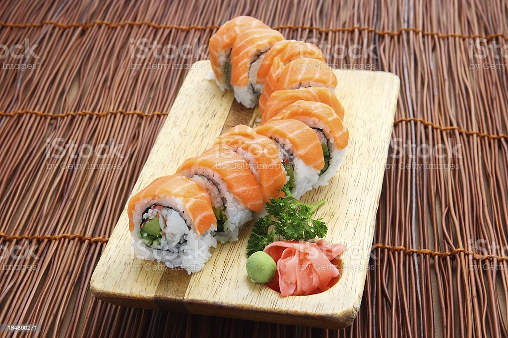 Salmon Roll stock photo