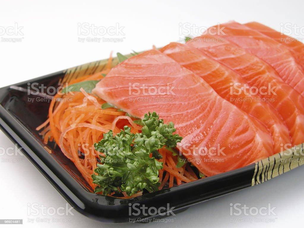 Salmon sashimi close-up royalty-free stock photo